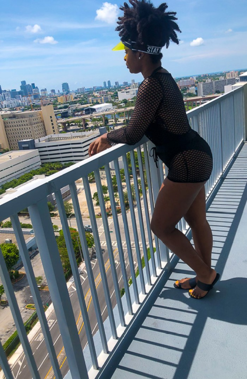 Dash of Jazz overlooking Miami skyline