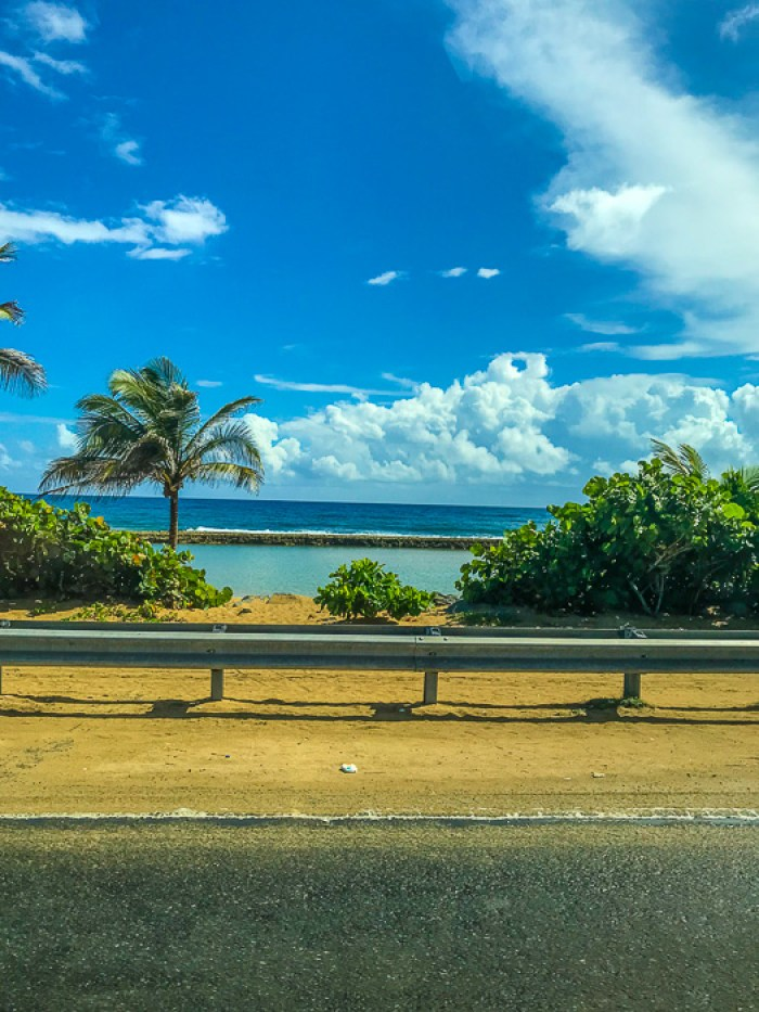 Isla Verde beach along road into Loiza
