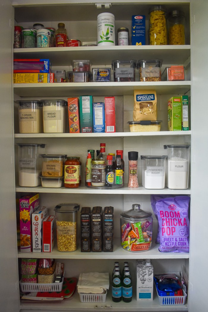 organized small pantry