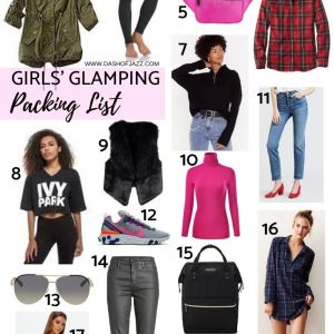 Girls' Glamping Packing List