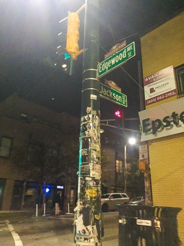 street sign in Edgewood, Atlanta, GA