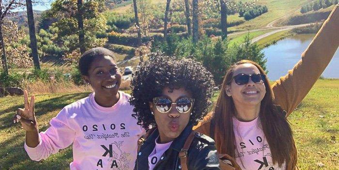 women at Mercier Orchards