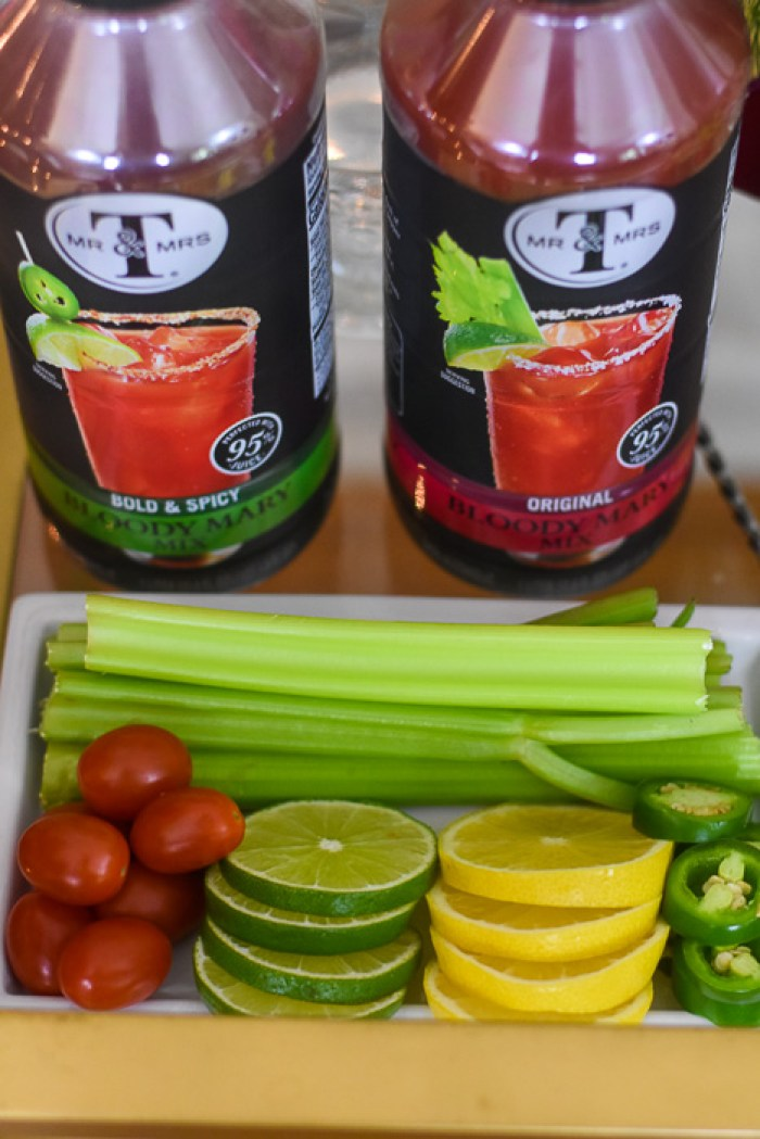 Bloody Mary mixers and garnishes