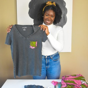 How to DIY an Ankara Accent T-Shirt (with Video)