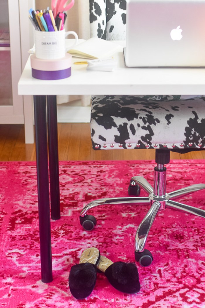 details of girl boss home office
