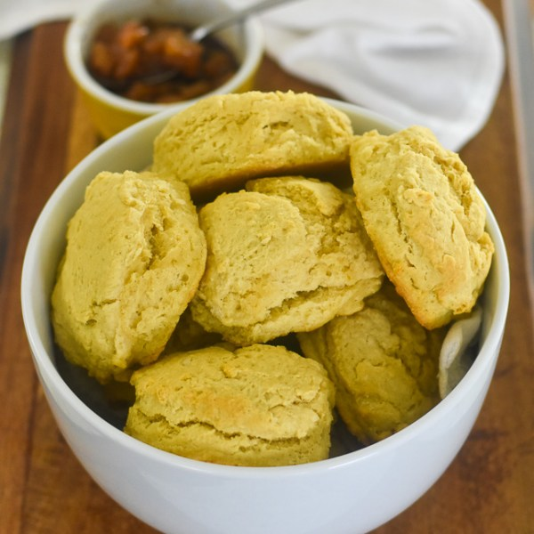 Fluffy Vegan Buttermilk Biscuits with Spiced Pear Compote + Black History Month Virtual Potluck