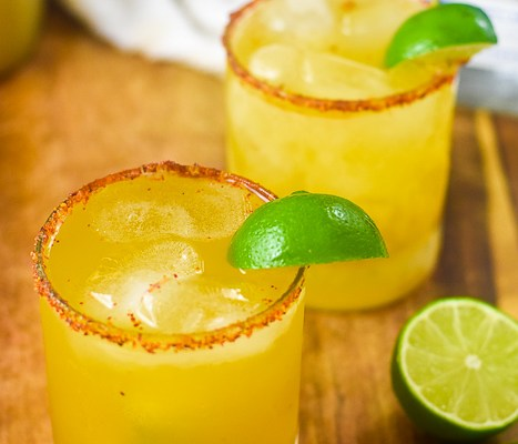 Passion Fruit Margaritas with Spiced Rims (with Video)