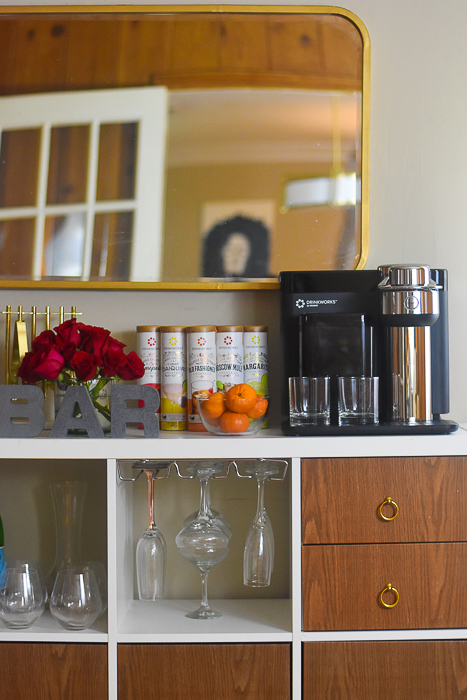 Drinkworks Home Bar by Keurig on Mid-Century Modern Home Bar