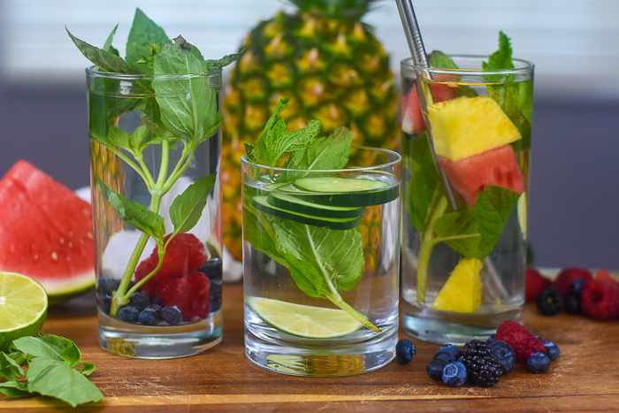 Three Refreshing Infused Water Combinations