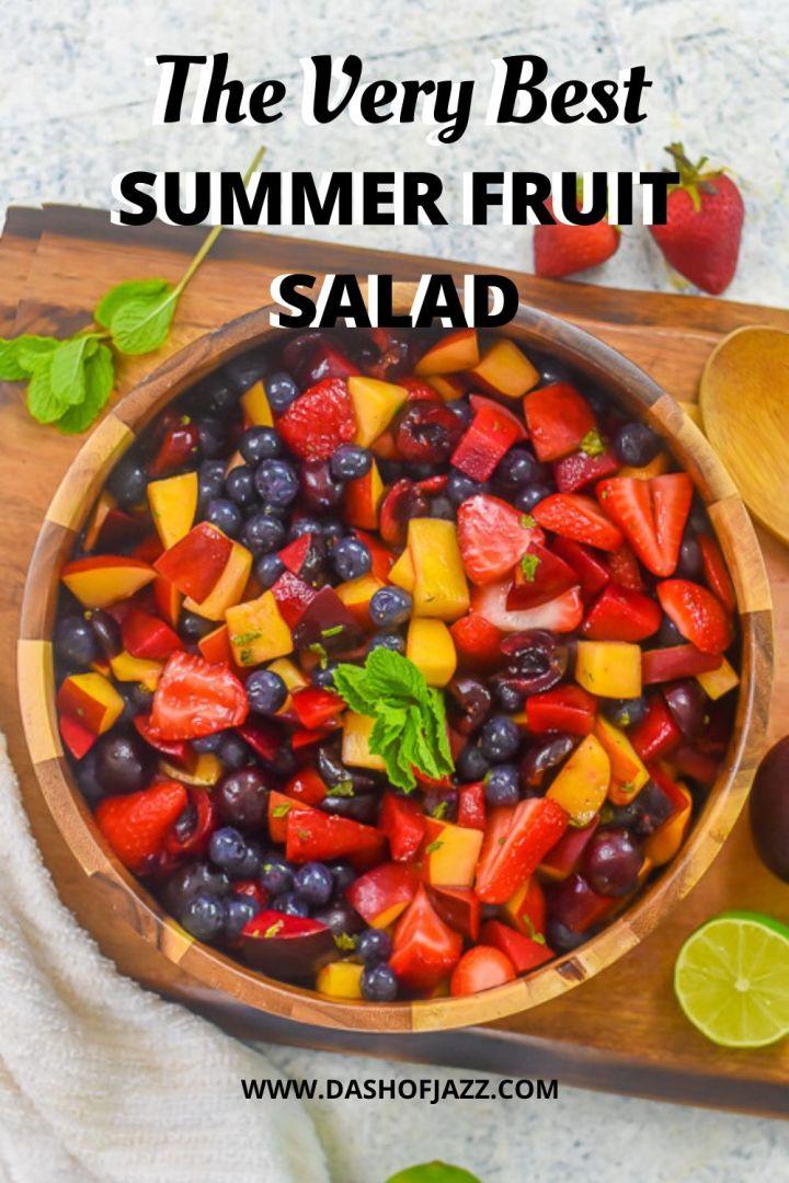 very best summer fruit salad pin
