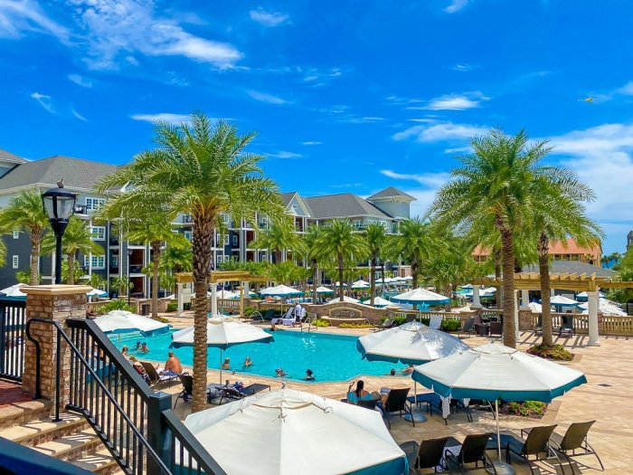 adult pool and patio area at Henderson Beach Resort & Spa in Destin, FL