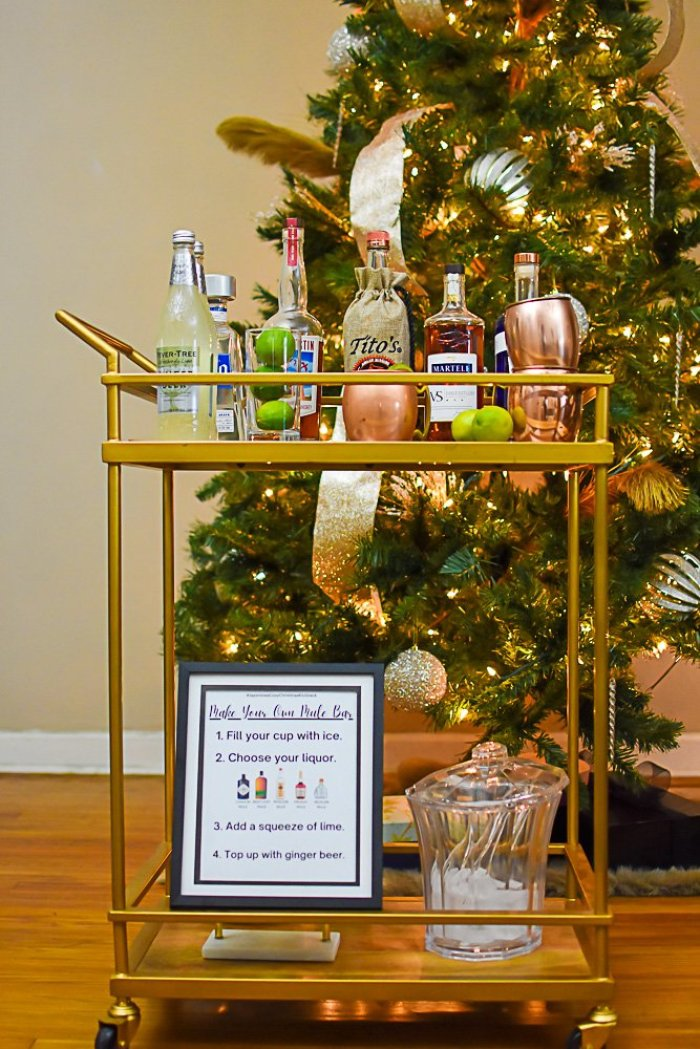 make your own mule bar setup on gold bar cart