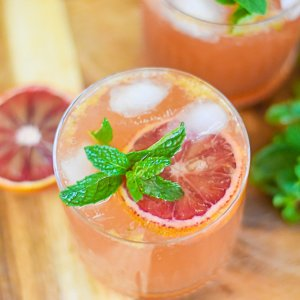 Bubbly Blood Orange Bourbon Smash