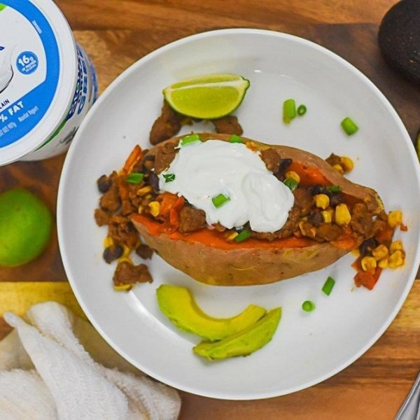 Better-for-You Tex Mex Stuffed Sweet Potatoes