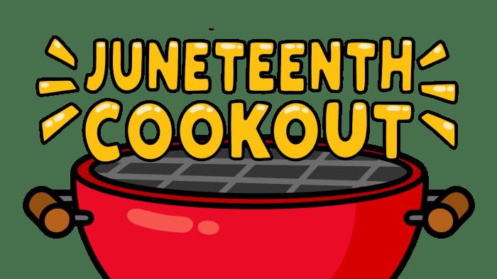 Juneteenth cookout logo.