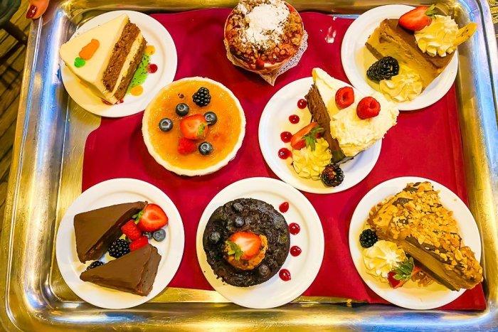 Dessert tray at The Pump House, Fairbanks, Alaska.