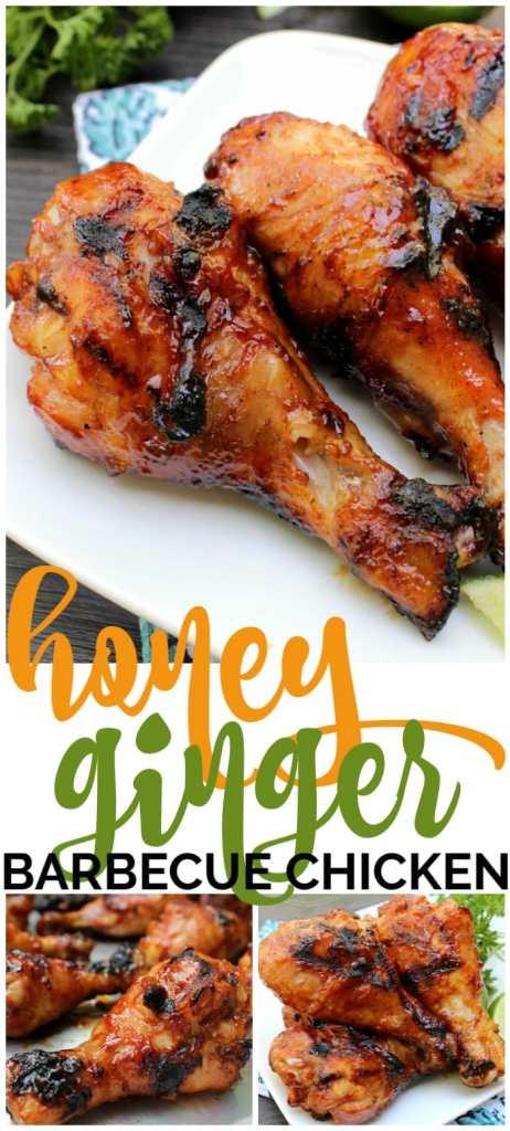 Honey Ginger Barbecue Chicken pinterest image