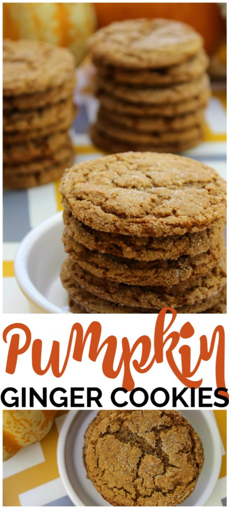 Pumpkin Ginger Cookies pinterest image