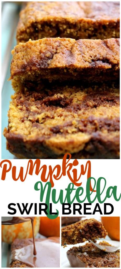 Pumpkin Nutella Swirl Bread pinterest image