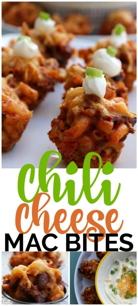 Chili Cheese Mac Bites pinterest image