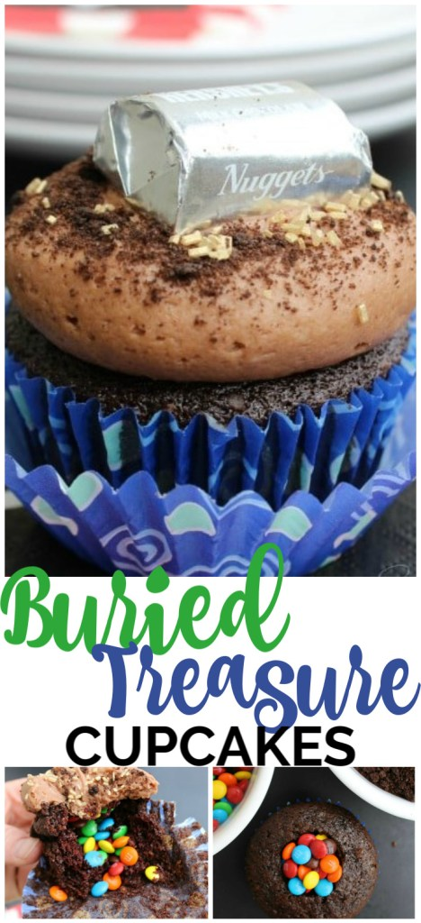 Buried Treasure Cupcakes pinterest image