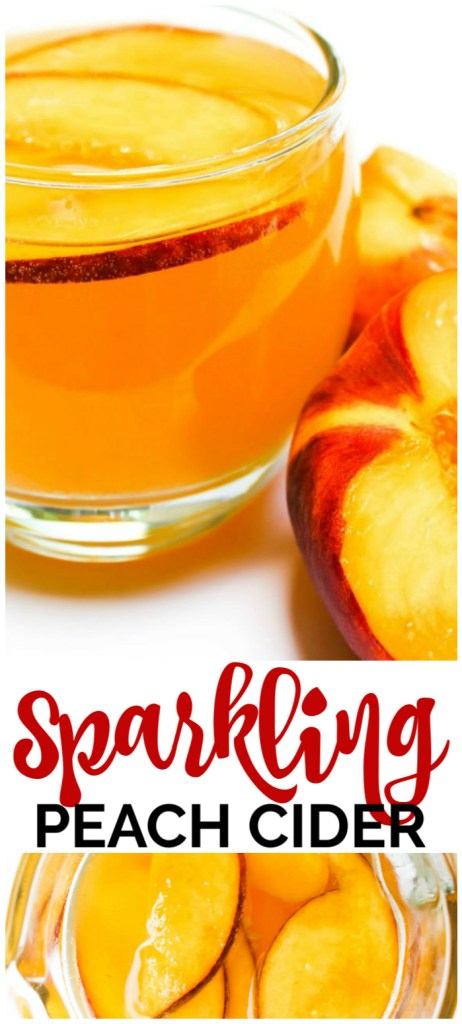 Sparkling Peach Cider pinterest image