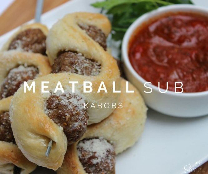 "Try these Meatball Sub Kabobs for a fun ""twist"" on the classic meatball sub. An easy 30 minute meal that the kids are sure to love."