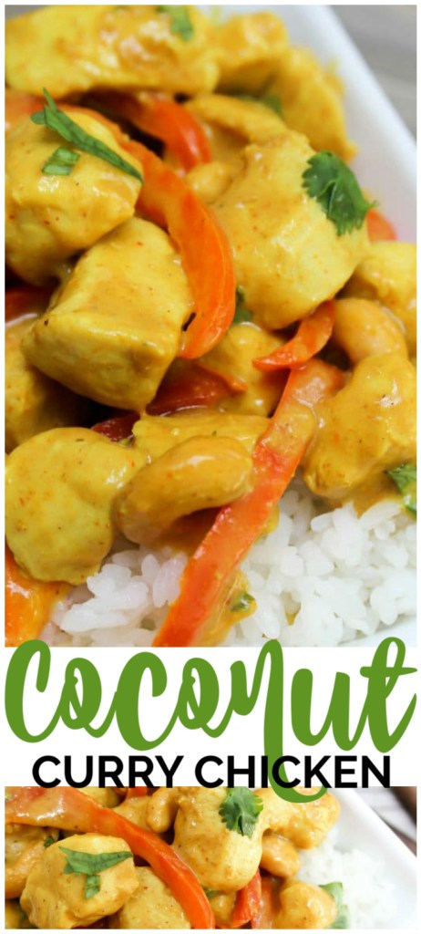 Coconut Curry Chicken pinterest image