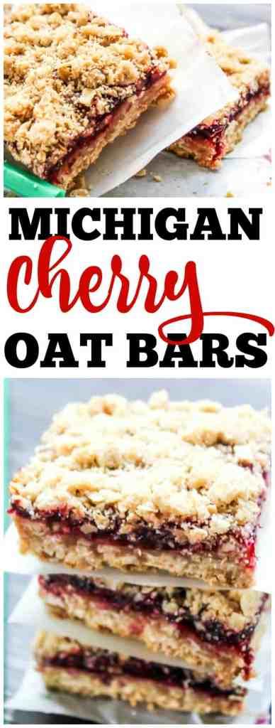 Copycat Starbucks Michigan Cherry Oat Bars