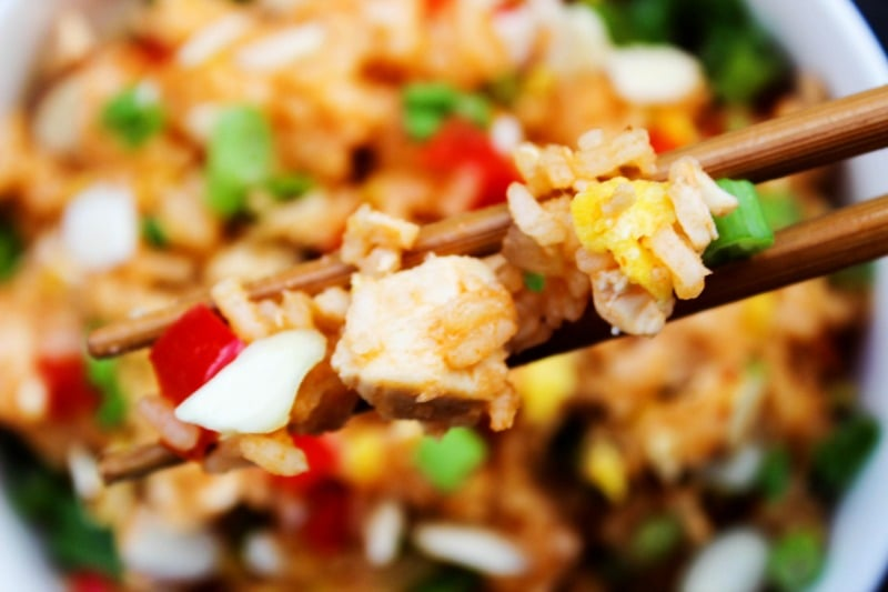 Skip the take-out and make this Sweet & Sour Chicken Fried Rice instead. Two of your favorite take-out dishesmade into one easy 30-minute meal.