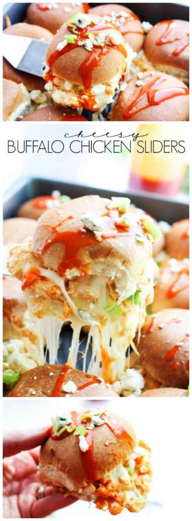These Cheesy Buffalo Chicken Sliders are a perfect fast and easy to make potluck meal or family dinner, allowing you more time to enjoy the sunshine.