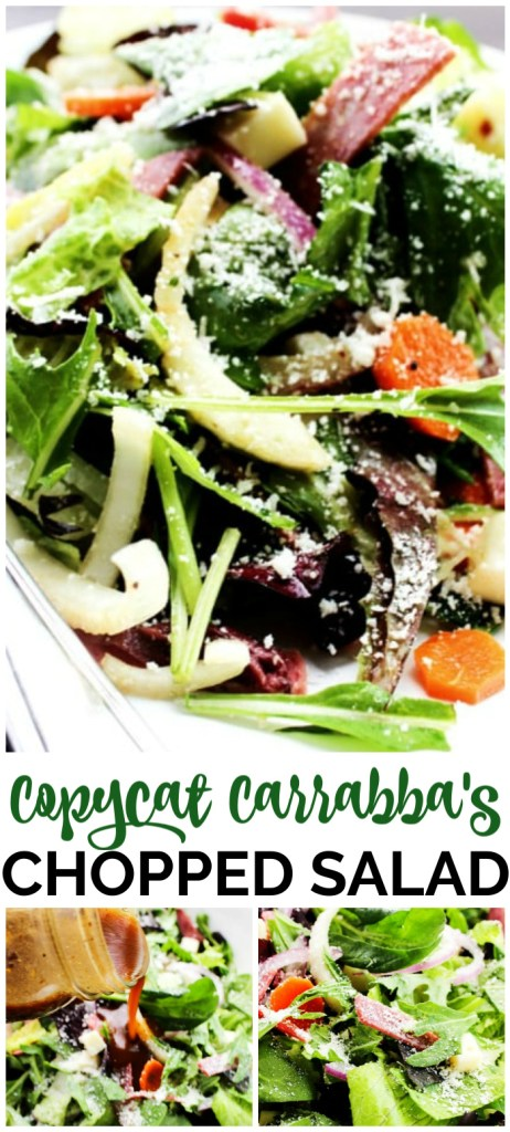 Copycat Carrabba's Chopped Salad pinterest image