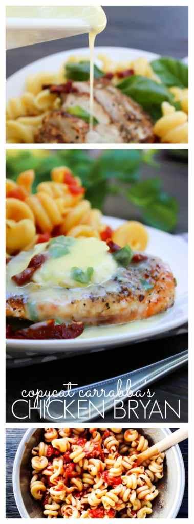 Chicken Bryan with pasta