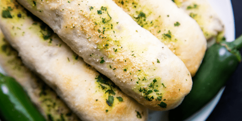 Jalapeno Popper Breadsticks are perfect for the upcoming football season. Score a touchdown with your family & friends with these 20 minute snacks.
