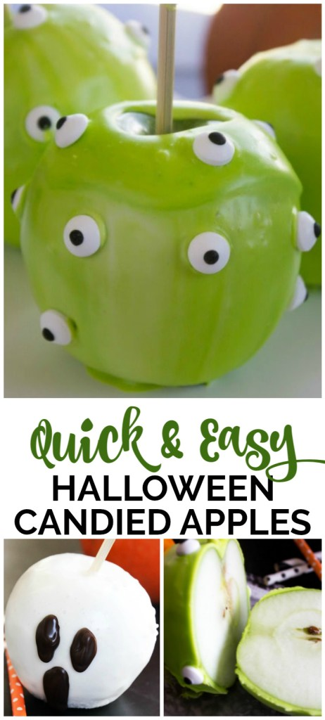 Quick & Easy Halloween Candied Apples pinterest image