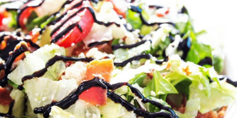 CHOPPED WEDGE SALAD - Close up of salad