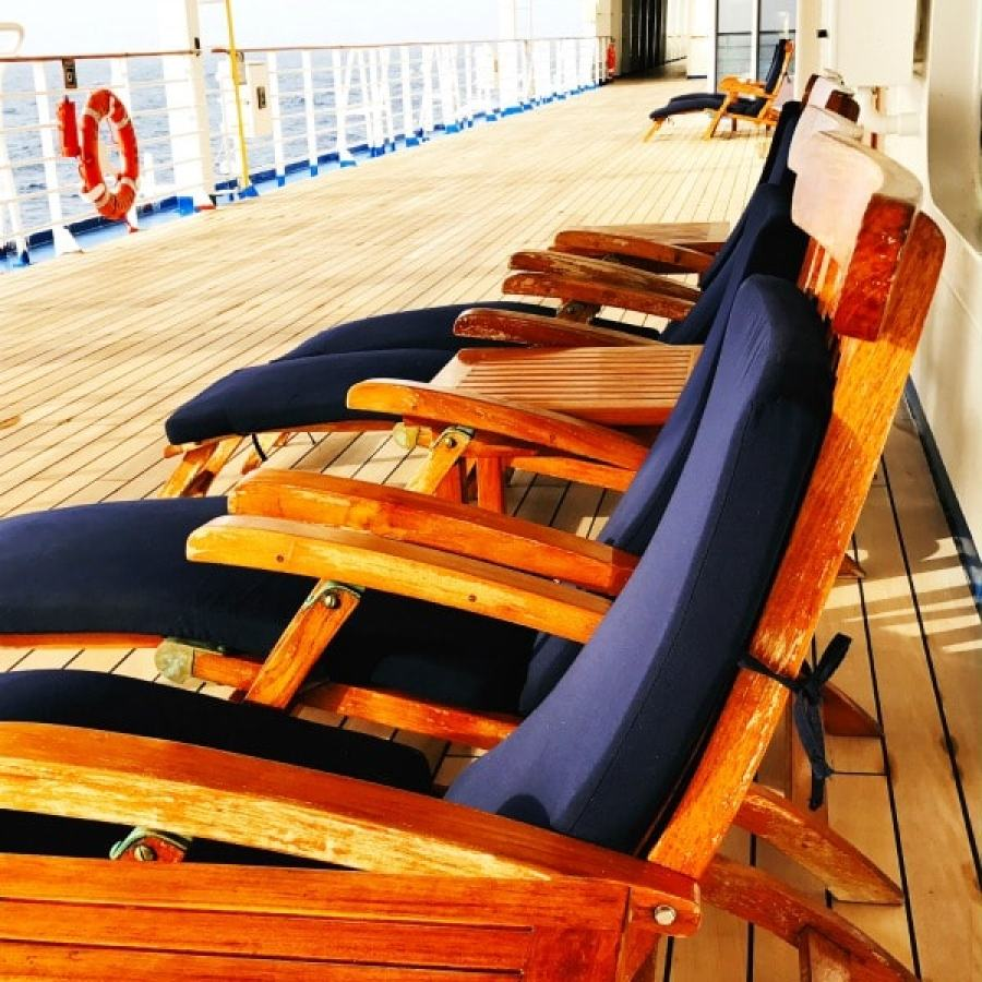 deck on cruise ship