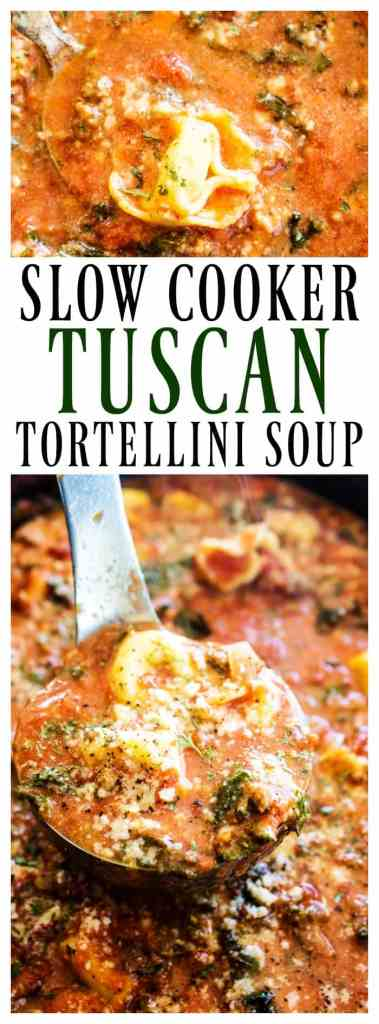 This hearty SLOW COOKER TUSCAN TORTELLINI SOUP will be a family favorite. Delicious & easy to make, you're simply going to love how easy it comes together.