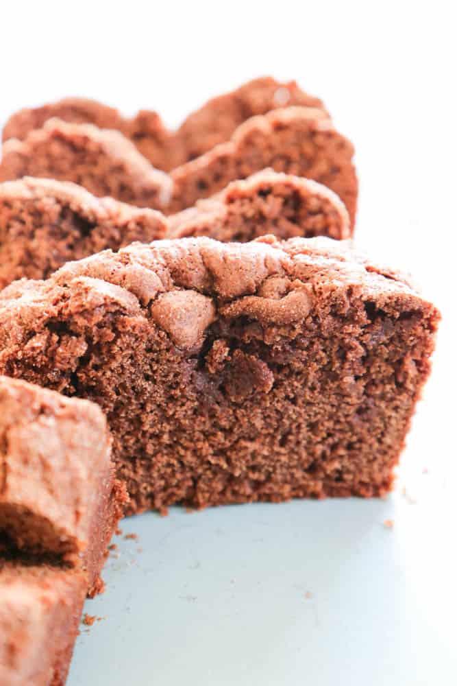Chocolate Cinnamon Bread close up slice