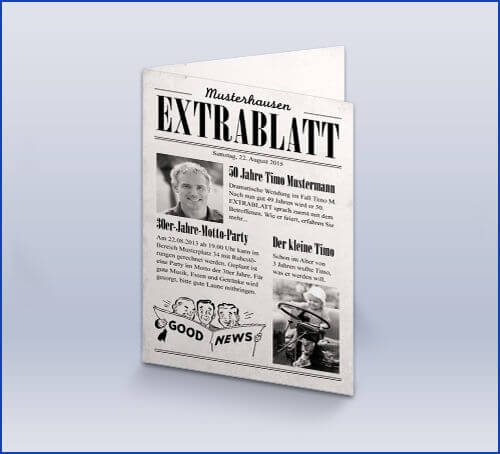 Zeitung Selbst Gestalten einladungskarten zur hochzeit