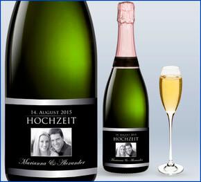 Vorlage Flaschenetikett Hochzeit