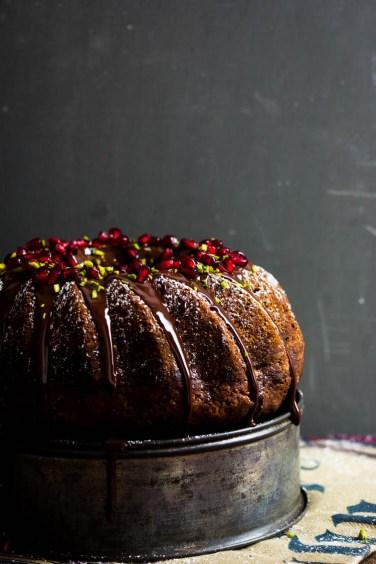 Marmorkuchen mit Schokolade und Granatapfel (21 von 69)