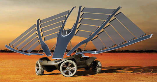 solar powered cars could be very exotic in the future