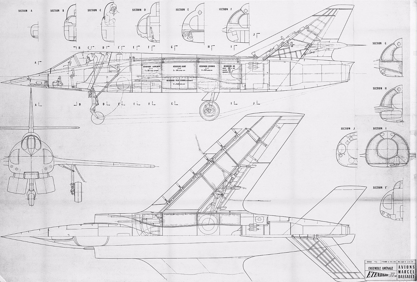 general aviation scale diagram ready remote 24923 wiring 3 view drawings of a selection dassault aircraft