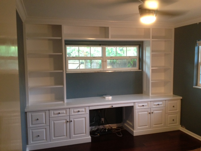 painted kitchen cabinets exhaust fan tampa, florida custom carpentry work: built-in bookcase ...