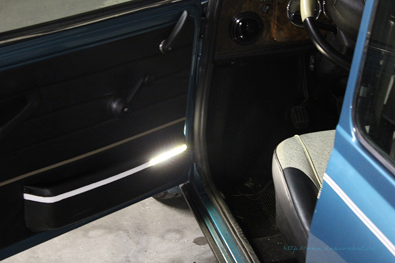 Rover Mini Xn - beleuchtete Türtaschen
