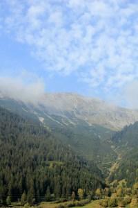 Alpenfahrt Blick ins Tal 1