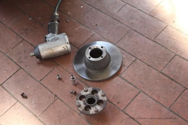 Rover Mini Xn - Druckluft gegen Mutter!