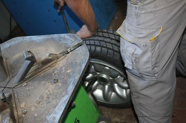 Rover Mini Xn - Fremdkörper im Reifen Behandlung