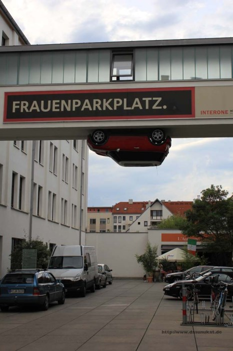 ein besonderer Parkplatz